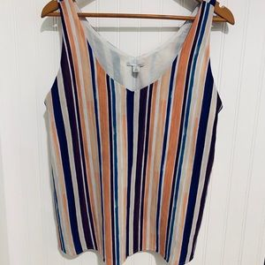 Nordstrom Halogen vertical stripe Top M